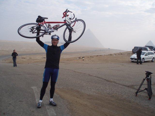 Start met fiets omhoog 13jan07~1